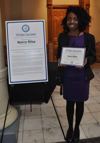 Sierra Riley, an eighth-grade student at Woodland Middle School, was selected as the 2016 Henry County winner of the Metro Water District's Essay Contest.